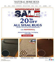 Get 20 Off All Sisal Rugs Ready To Ship