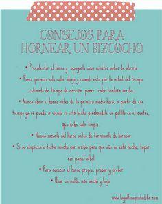 consejos hornear bizcocho by La Gallina Pintadita, via Flickr