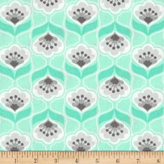 Mint Condition Poises Mint from @fabricdotcom  Designed by Jackie Studios for Camelot Fabrics, this fabric is perfect for quilting, apparel and home decor accents. Colors include white, grey and mint.