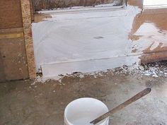 Whitewashing the chicken coop