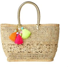Lilly Pulitzer Riviera Straw Tote Bag