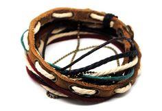 Leather Bracelet Wristband cuff bracelet by Leatherbracelet11, $8.00