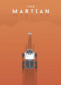 The Martian (2015) ~ Minimal Movie Poster by maspoko ~ Oscars 2016 Nominees #amusementphile