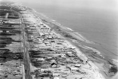 Delaware Public Archives Bethany Beach and South Bethany after storm Purnell Collection Bethany Beach Delaware, Rehoboth Beach, Indian River, Beach Town, Beach House, Ocean City, Women In History, Old Pictures, East Coast