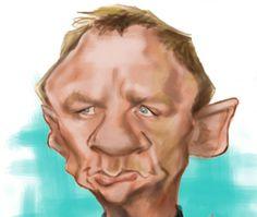 Caricature Daniel Craig