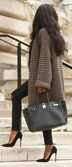 business outfit idea with a coat