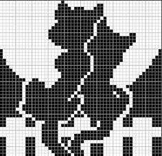 Филейное вязание. Детские мотивы Pony Bead Patterns, Beading Patterns, Cross Stitch Patterns, Crochet Patterns, Filet Crochet, C2c Crochet, Cross Stitch Bookmarks, Cat Pattern, Beading Projects