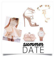 """Summer date night"" by bumble-bliss on Polyvore featuring Boohoo, Dsquared2, Larsson & Jennings, Eugenia Kim, WithChic, summerdate and rooftopbar"