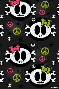 1525-skull-girls-with-bows-iphone-wallpaper.gif (320×480)