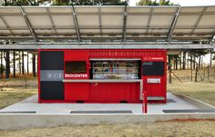 coca-cola EKOCENTER: water purifying shipping container unit