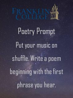 Poetry prompt.