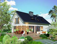 DOM.PL™ - Projekt domu APP Domidea 60 dG w2 CE - DOM PO1-43 - gotowy projekt…
