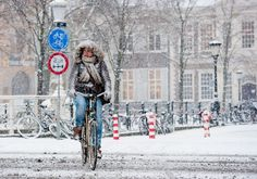 Montreal winter bicycle