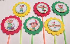 Handy Manny Disney Junior  cupcake toppers  Set by GioviPartyDecor