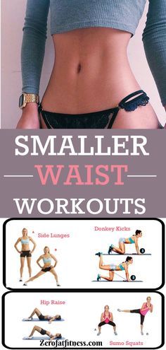 Slim Waist Workout for Women. Struggling hard to get slim waist? Try this 10 days smaller waist workout plan to get a sexy tiny waist. These 10 waist slimming exercises will work on your belly, abs, butt and back body to transform your figure. #fitness #workout #smallerwaist