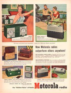 1952 Motorola Radio print ad portable Playmate by catchingcanaries, $8.00