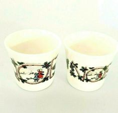 Noel Christmas Egg Cups Bone China Holly Design Vintage Retro Crown Windsor x 2 Toast Rack, Holly Hobbie, Egg Cups, Bone China, My Ebay, Retro Vintage, Pottery, Ceramics, Mugs