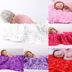 Newborn Photography Photo Props 3D Rose Flower Backdrop Beanbag Baby Blanket Large Rug Photography Props 130cm*95cm