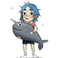someone on tumblr asked if  syd is afraid of whales like 2d