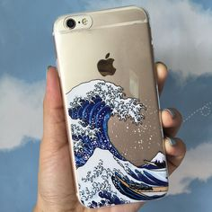 A grande onda fora de kanagawa macio tpu phone case capa para iphone 7 plus 7 6 mais 6 6 s 5 5S se 5c 4 4S samsung galaxy s5 s6 s7