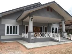 House Front Porch, House Roof, Facade House, House Layout Plans, Dream House Plans, House Layouts, Brick House Designs, Bungalow House Design, Classic House Design