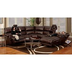 The Fully Loaded Power Modular Sectional from Franklin has all the bells and whistles that you have been looking for.