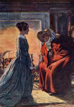Framed Print-Jane Eyre & Gipsy-Framed Print made in the USA Framed Prints, Canvas Prints, Art Prints, Charlotte Bronte Jane Eyre, Wonderful Images, Poster Size Prints, Art History, Photo Puzzle, Online Printing
