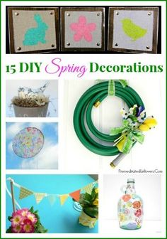 15 DIY Spring Decorations - Brighten up your home with handmade spring decorations. Here are 15 spring decor ideas that you can easily make yourself.