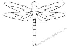 free mosaic patterns | dragonfly stained glass patterns decoration. #StainedGlassDragonfly