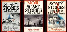 Scary Stories to Tell in the Dark. I guess we can't say much about Grimm's fairy tales when kids had these in the 80s lol