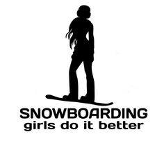 15.2CM*15.2CM Snowboarding Girls Do It better Chick Snowboarder Girl Car Snow Car Stickers Decoration Black Sliver