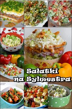 Sałatki na Sylwestra - przepisy - KulinarnePrzeboje.pl Polish Recipes, Polish Food, Middle Eastern Recipes, Baked Potato, Potato Salad, Side Dishes, Food And Drink, Yummy Food, Healthy Recipes
