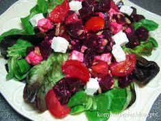 beetroot-feta-greens-salad Beetroot, Caprese Salad, Food, Essen, Meals, Yemek, Insalata Caprese, Eten
