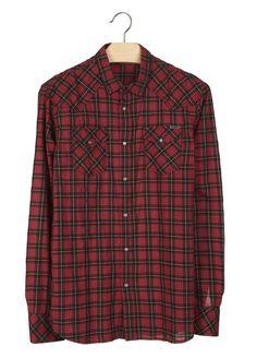 Chemise à carreaux Niral Rouge by DIESEL