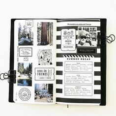 Art Journal pages, inspiration and ideas for keeping an art journal or a midori travel journal, notebook, or scrapbook