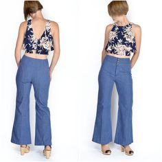 Vintage 1970s Flared High-Waisted Jeans / by ItinerantVintage