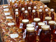 Maple syrup at the Downtown Troy Farmer's Market.  Oh yum!!