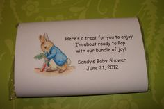 Peter Rabbit Popcorn Wrapper Favors Classic Beatrix Potter Themed Popcorn Shower Party Favors Sprinkle Birthday. $36.00, via Etsy.