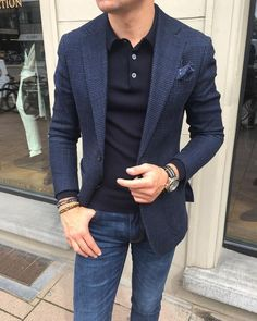 If you are in the market for brand new men's fashion suits, there are a lot of things that you will want to keep in mind to choose the right suits for yourself. Below, we will be going over some of the key tips for buying the best men's fashion suits. Blazer Outfits Men, Mens Fashion Blazer, Stylish Mens Outfits, Suit Fashion, Blue Blazer Outfit Men, Stylish Menswear, Men's Outfits, Fashion Pants, Business Mode