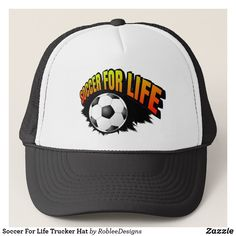Soccer For Life Trucker Hat $16 #soccer #sports #cap #caps #hats #hat #apparel #fashion #style #design #designer #logo #shopping #shop #sportswear #sportsfans #MLS #cool #brand #mensfashion