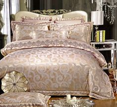 - Made with a blend of luxury silk and cotton materials to complement an elegant, majestic bedroom theme. - Unlike other types of bedding material, Jacquard fabric is made with a raised design or patt