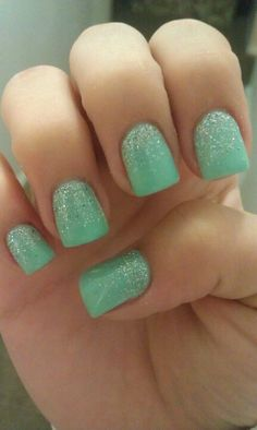 Mint nails!(: