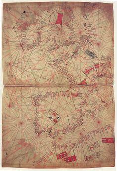 Mapa del Atlántico de Pietro Vesconte, 1325