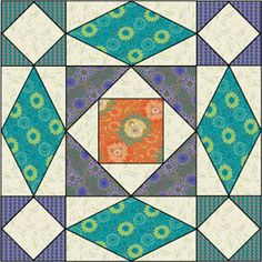 I've discovered a new favorite quilt block pattern. Storm at sea