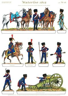Waterloo 1815, Battle Of Waterloo, Bataille De Waterloo, French Pictures, Military Drawings, Paper Toy, Military Figures, French Army, French Revolution