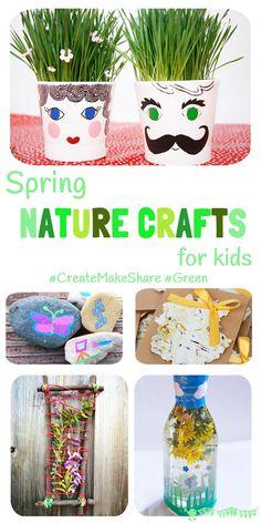 Spring Nature Crafts For Kids  (#CreateMakeShare5)