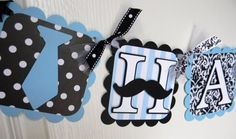 Lil Man  Happy Birthday Banner  Black White by sweetheartpartyshop, $32.00