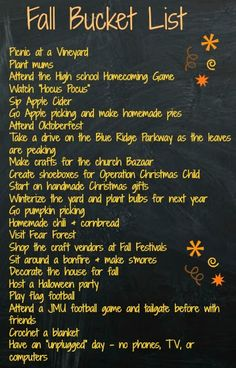 bucket list simple Simple Southern Lifestyle: The 2013 Fall Bucket List Herbst Bucket List, Halloween Bucket List, Fun Fall Activities, Happy Fall Y'all, Thanksgiving, Fall Family, Fall Season, Fall Crafts, Fall Halloween