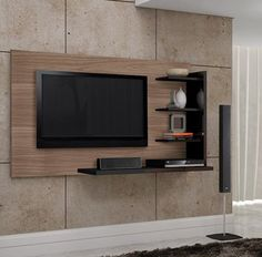 Let us take a look at some of the most inspirational TV wall mount ideas with cabinet and design for your living room. Tv Wall, House Design, House, Tv Wall Unit, Home, Wall Mounted Tv, New Homes, Tv Furniture, Tv Wall Decor