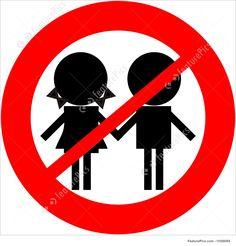 Illustration Of Children Not Allowed Children prohibited